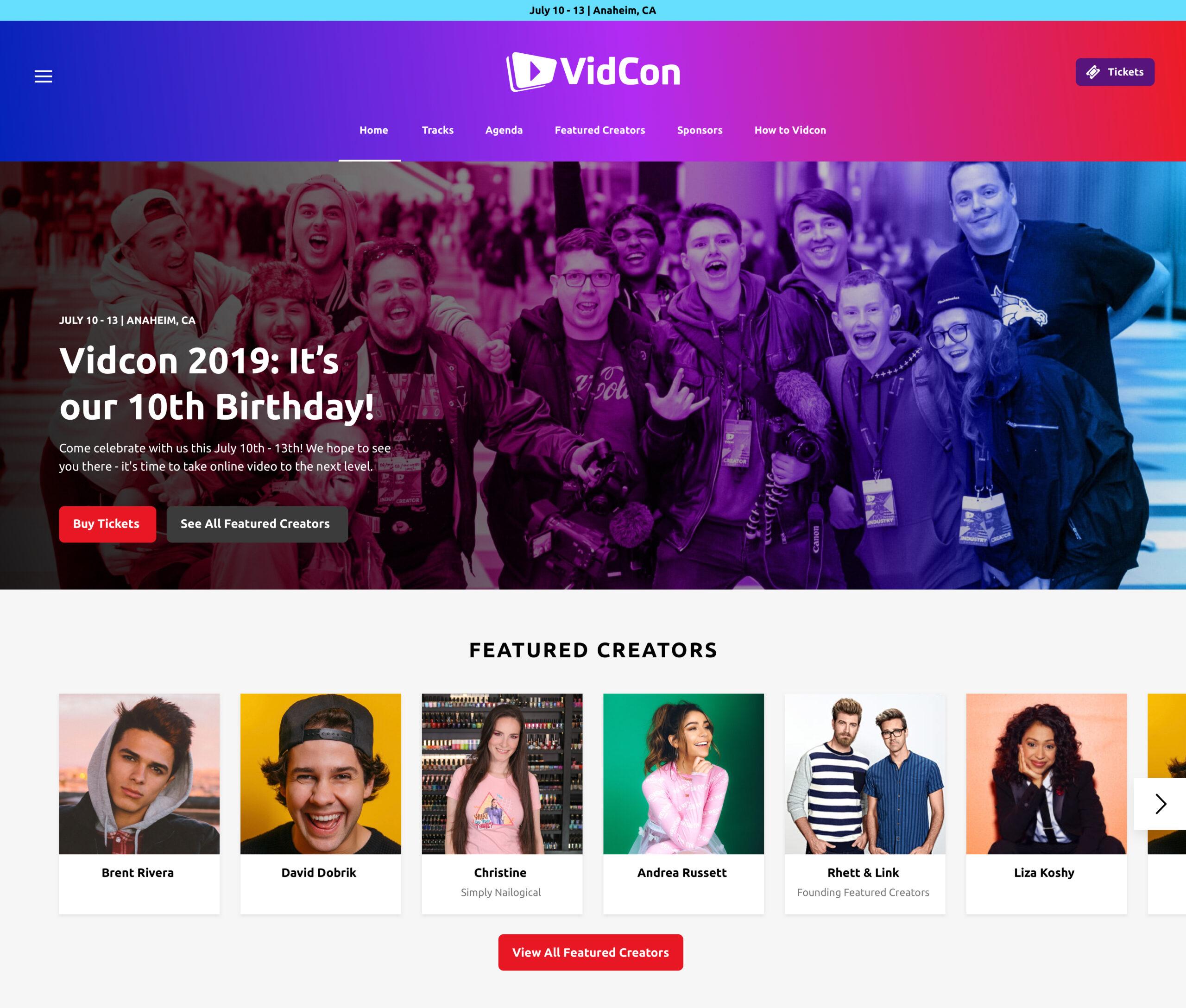 Homepage-VidCon